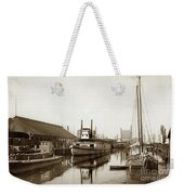 T.c. Walker Paddle Riverboat City Of Stockton Riverboat And Kath Weekender Tote Bag
