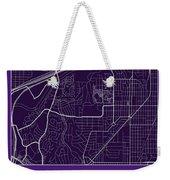 Tcu Street Map - Texas Christian University Fort Worth Map Weekender Tote Bag
