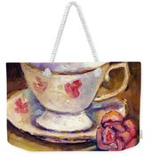 Tea Cup With Rose Still Life Grace Venditti Montreal Art Weekender Tote Bag