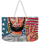 Teach Peace Weekender Tote Bag