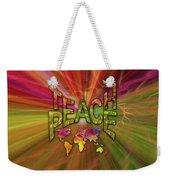 Teach Peace Weekender Tote Bag