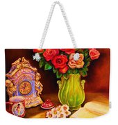 Teacup And Roses Weekender Tote Bag