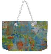 Teal Abstract, A New Look Again Weekender Tote Bag