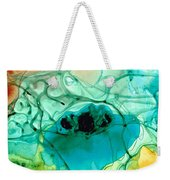 Teal Aqua Art - Connected - Sharon Cummings Weekender Tote Bag