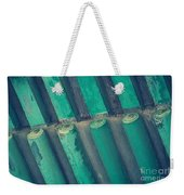 Teal Chinese Ceiling Weekender Tote Bag