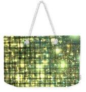 Teal Gold Cubes Weekender Tote Bag