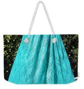 Teal Green Lace Skirt. Ameynra By Sofia Weekender Tote Bag