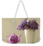 Teapot And Flowers In A Vase Weekender Tote Bag