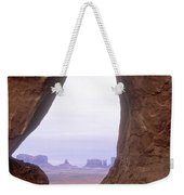 Teardrop Arch-monument Valley Weekender Tote Bag