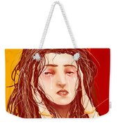 Tears And Fake Gold Weekender Tote Bag