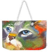 Technicolor Tabby Weekender Tote Bag