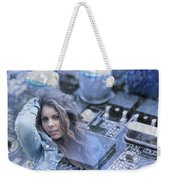 Technology Girl Weekender Tote Bag