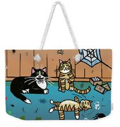 Cats Having Fun Playing With Spiders Weekender Tote Bag