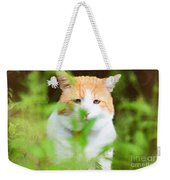Teddy In The Garden Weekender Tote Bag