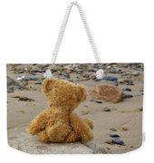 Teddy On A Beach Weekender Tote Bag