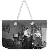 Teen Couple Dancing At Home, C.1950s Weekender Tote Bag