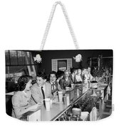 Teens At Soda Fountain Counter, C.1950s Weekender Tote Bag