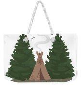 Teepee In The Woods Weekender Tote Bag