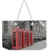 Telephone Boxes Weekender Tote Bag