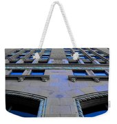 Telephone Building With Indigo Reflections Weekender Tote Bag