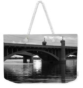 Tempe Town Lake Bridge Black And White Weekender Tote Bag