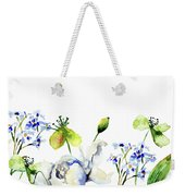 Template For Card With Decorative Wild Flowers Weekender Tote Bag
