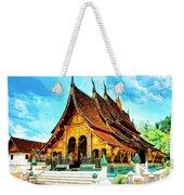 Temple In Laos Weekender Tote Bag