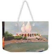 Temple In Sea Weekender Tote Bag