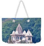 Temple In The Distance - Rishikesh India Weekender Tote Bag