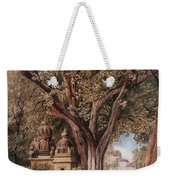 Temples And Burial Ground Near Poona Weekender Tote Bag