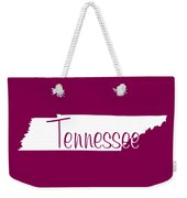 Tennessee In White Weekender Tote Bag