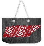 Tennessee State License Plate Map Weekender Tote Bag