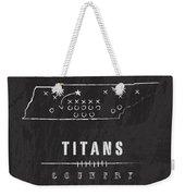 Tennessee Titans Art - Nfl Football Wall Print Weekender Tote Bag