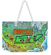 Tennessee Usa Cartoon Map Weekender Tote Bag