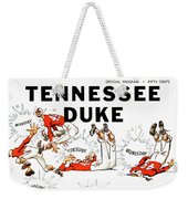 Tennessee Versus Duke 1955 Football Program Weekender Tote Bag