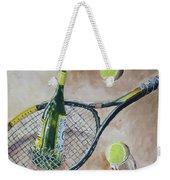 Tennis And Wine Weekender Tote Bag