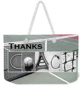 Tennis Coach Alphabet Art Weekender Tote Bag