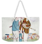 Tennis Court Romance, 1925 Weekender Tote Bag