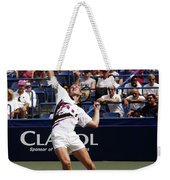 Tennis Serve Weekender Tote Bag by Sally Weigand