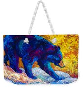 Tentative Step - Black Bear Weekender Tote Bag