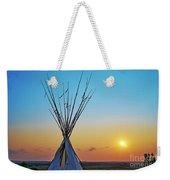 Tepee At Sunset Weekender Tote Bag