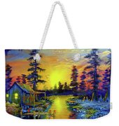 Tequila Sunrise In The Swamp Weekender Tote Bag
