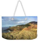 Terceira Island, Ilheus De Cabras And Lighthouse Of Ponta Das Contendas Weekender Tote Bag by Kelly Hazel