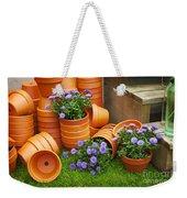Terracotta Flower Pots Weekender Tote Bag