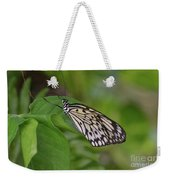 Terrific Capture Of A Paper Kite Butterfly On A Leaf Weekender Tote Bag