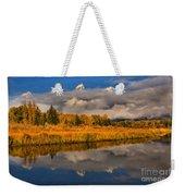 Teton Fall Foliage And Fog Weekender Tote Bag