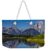 Teton Mountains Reflection Weekender Tote Bag