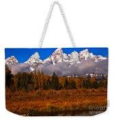 Teton Peaks Above Fall Foliage Weekender Tote Bag
