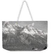 Teton Range Charcoal Sketch Weekender Tote Bag
