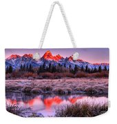 Teton Reflections In The Frosted Willows Weekender Tote Bag
